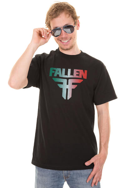 Fallen Insignia T-Shirt (black emerald fade)