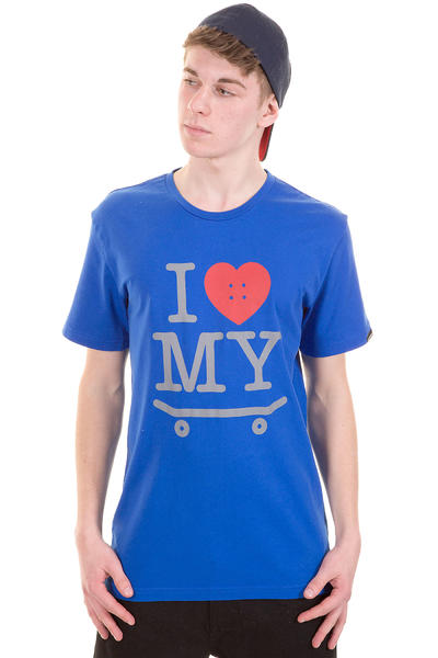 Trap Skateboards I Love My Skateboard T-Shirt (royal blue)