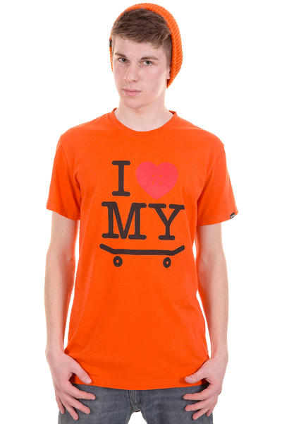 Trap Skateboards I Love My Skateboard T-Shirt (orange)