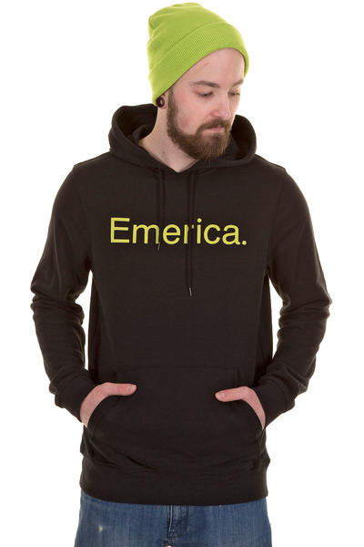 Emerica Pure Solid Hoodie (black light green)