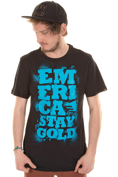Emerica Three Day Weekend T-Shirt (black blue)