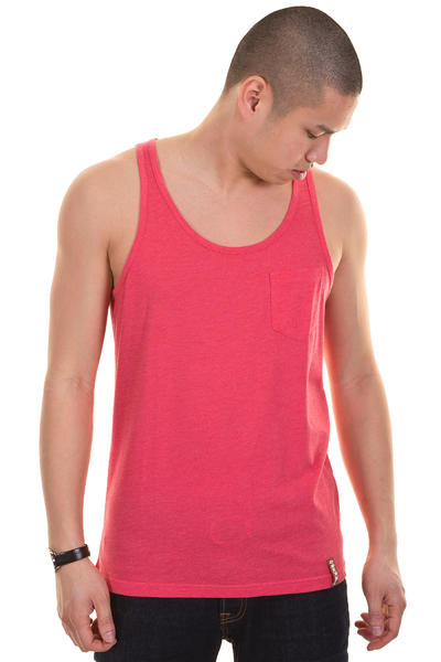 Iriedaily Pocket Tank-Top (red melange)