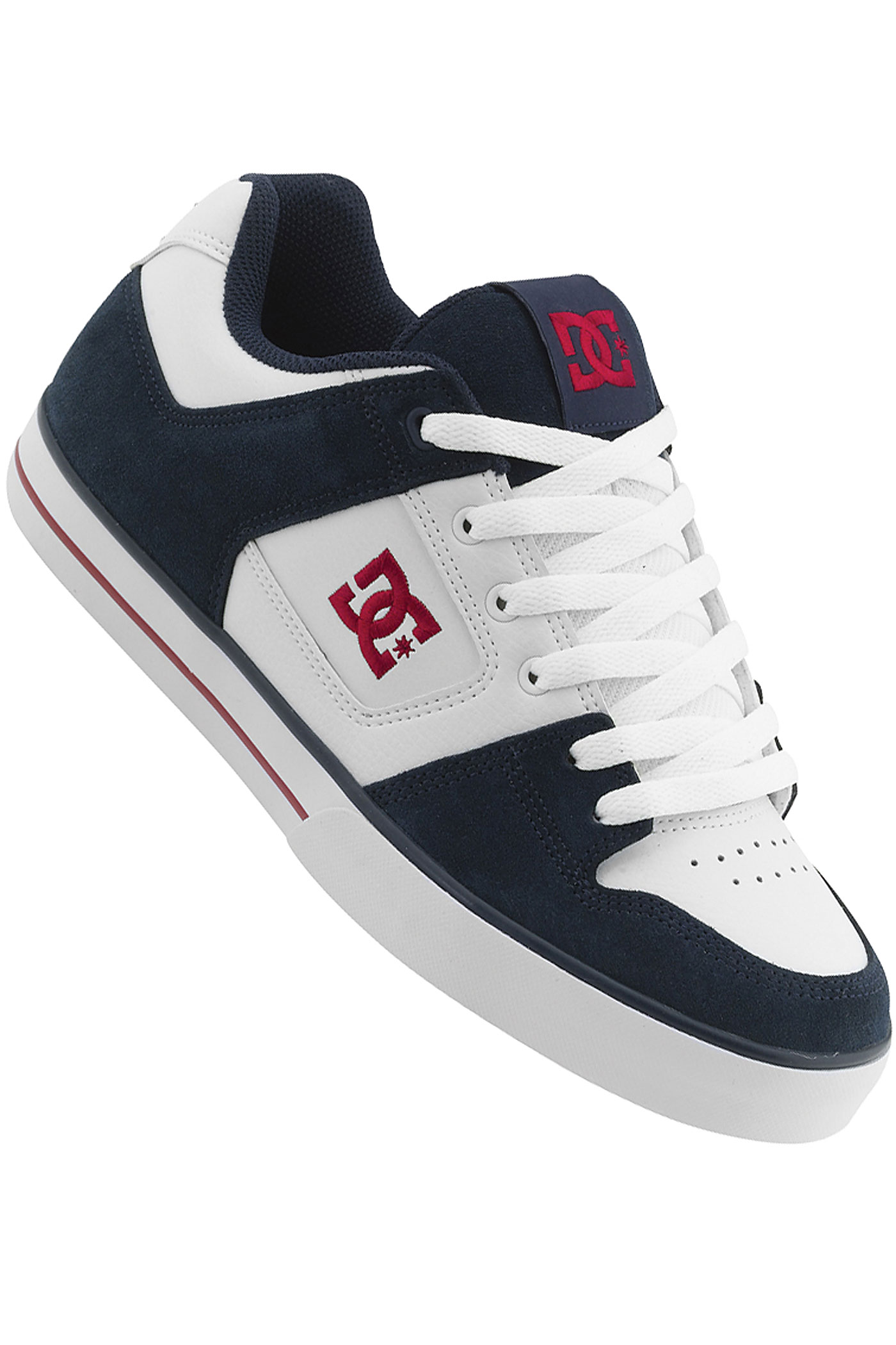 to delete this dc pure shoe white dc navy buy at skatedeluxe image