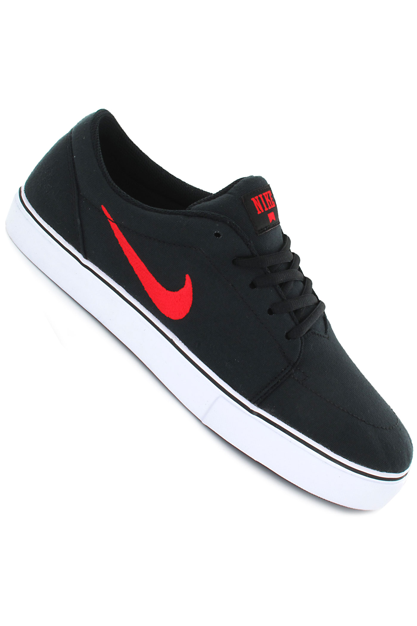 nike sb satire canvas shoe black pimento white buy at