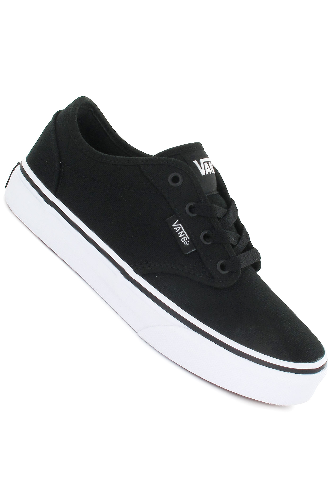 vans atwood canvas shoe black white buy at skatedeluxe