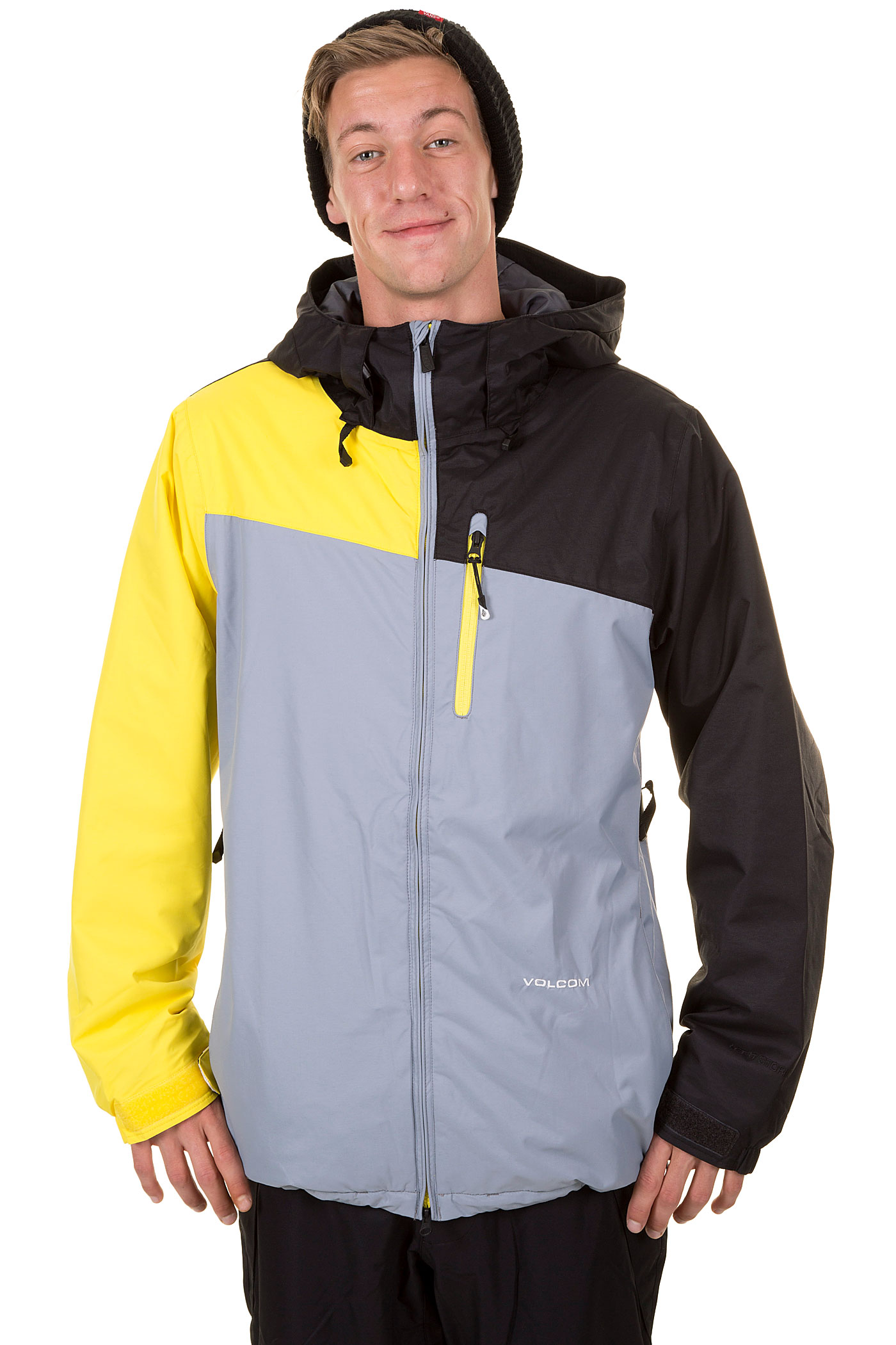 Volcom Shadow Snowboard Jacket Insulated Neon Yellow Buy At Skatedeluxe