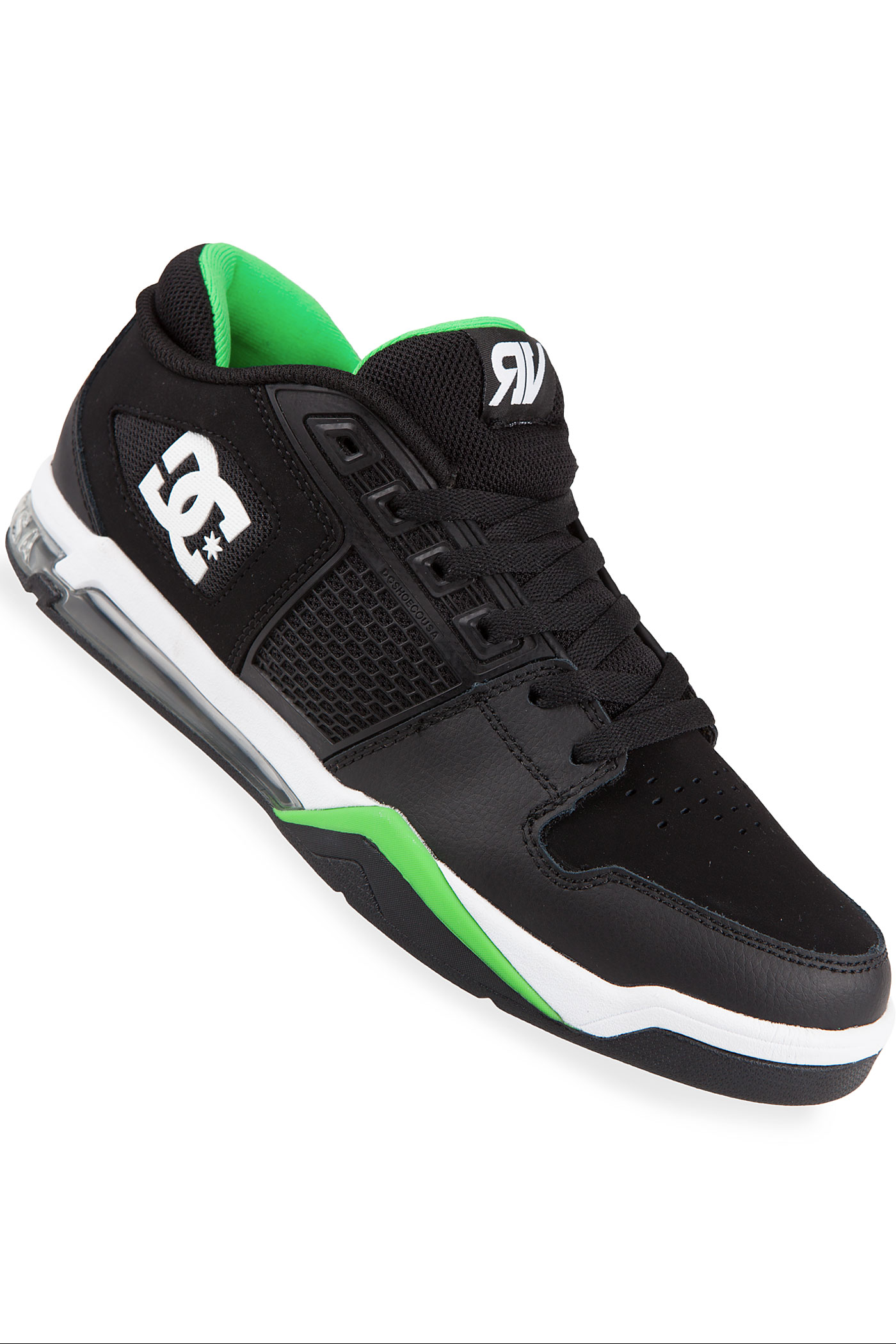 dc villopoto shoe black green buy at skatedeluxe