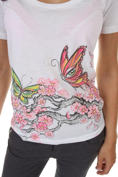 Vans Kim Saigh Butterfly T-Shirt girls (white) - T-Shirts - skatedeluxe.de