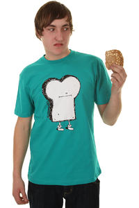 Cleptomanicx Toast T-Shirt (jade)