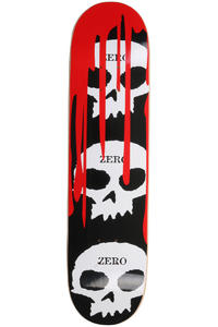 "Zero 3-Skull Blood Black Classic 7.625"" Deck"