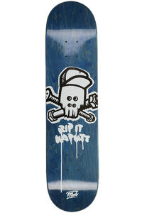 "MOB Skateboards Metal Skull 7.625"" Deck (blue veneer)"