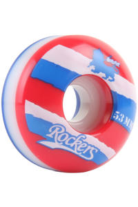 Rockers Ripped Tricolor 53mm Rollen 4er Pack  (red white blue)