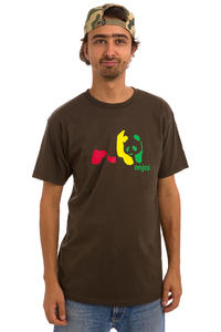 Enjoi Rasta Panda T-Shirt (dark chocolate)