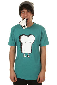 Cleptomanicx Toast T-Shirt (heather petrol)