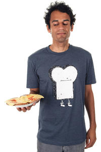 Cleptomanicx Toast T-Shirt (heather navy)