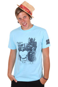 Cleptomanicx Toast Hawaii T-Shirt (light blue)