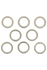 Shortys Standard 8mm Speedrings 8er Pack  (silver)