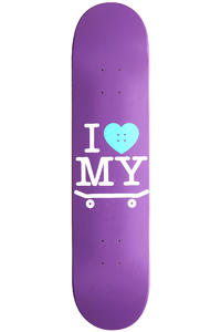 "Trap Skateboards I Love My Board 7.5"" Deck (purple)"