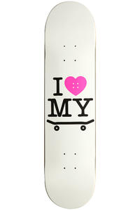 "Trap Skateboards I Love My Board 7.75"" Deck (white)"