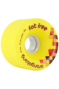 Orangatang Fat Free 65mm 86A Wheel 4er Pack  (yellow)