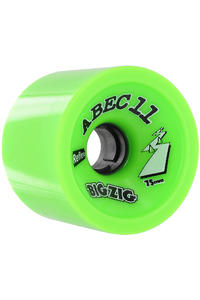 ABEC 11 Retro Big Zigs 75mm 80a Rollen 4er Pack  (lime)
