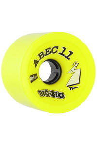 ABEC 11 Retro Big Zigs 75mm 83a Wheel 4er Pack  (lemon)