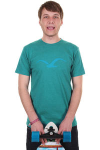 Cleptomanicx Mwe T-Shirt (heather turquoise)