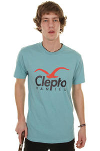 Cleptomanicx Cl T-Shirt (heather pale blue)