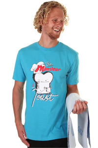 Cleptomanicx Chez Monsieur Le Toast T-Shirt (heather ocean)