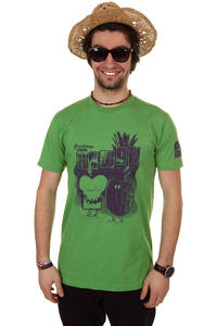 Cleptomanicx Toast Hawaii T-Shirt (heather green)