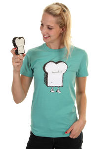 Cleptomanicx Toast T-Shirt girls (heather pale blue)