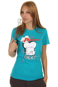 Cleptomanicx French Toast T-Shirt girls (heather ocean)