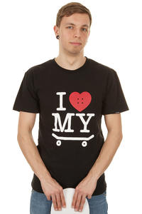 Trap Skateboards I Love My Skateboard T-Shirt (black)