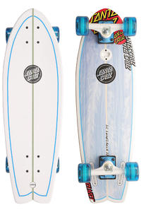 "Santa Cruz Landshark 8.8"" x 27.7"" Cruiser (blue white)"