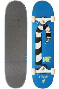 "Trap Skateboards Candy Kane 7.3125"" Complete-Board (blue)"
