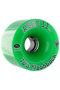 ABEC 11 Flashbacks 70mm 78a Wheel 4er Pack  (green)