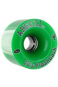 ABEC 11 Flashbacks 70mm 81a Wheel 4er Pack  (green)
