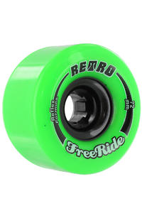 Retro Freeride 72mm 80A Rollen 4er Pack  (lime)