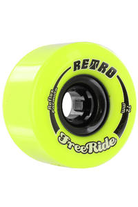 Retro Freeride 72mm 83a Rollen 4er Pack  (lemon)