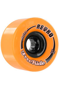 Retro Freeride 72mm 86a Rollen 4er Pack  (orange)