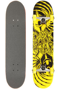 Darkstar Twisted 7.5&quot; Complete-Board (yellow)
