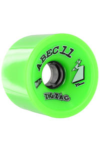 ABEC 11 Retro Zig Zags 70mm 80a Rollen 4er Pack  (lime)