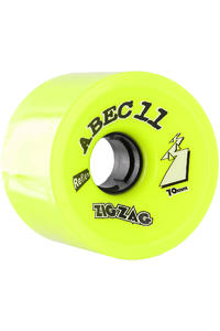 ABEC 11 Retro Zig Zags 70mm 83a Rollen 4er Pack  (lemon)
