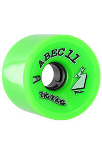 ABEC 11 Retro Zig Zags 70mm 80a Rollen 2er Pack  (lime)