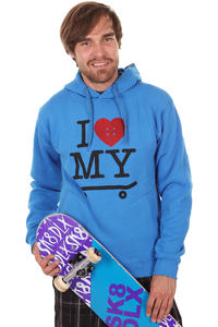 Trap Skateboards I Love My Board Hoodie (royal blue)