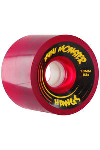 Landyachtz Hawgs Mini Monster 70mm 82a Wheel 4er Pack  (clear red)