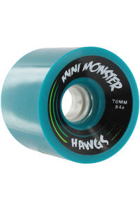 Landyachtz Hawgs Mini Monster 70mm 84a Wheel 4er Pack  (turquoise)