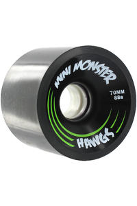 Landyachtz Hawgs Mini Monster 70mm 88a Wheel 4er Pack  (black)