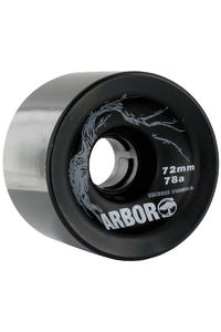 Arbor Freeride 72mm 78a Rollen 4er Pack  (black)