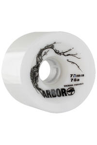 Arbor Freeride 72mm 78a Rollen 4er Pack  (white)